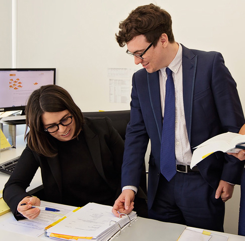 MDC Legal's employment lawyers, Nicholas Parkinson and Noella Silby.