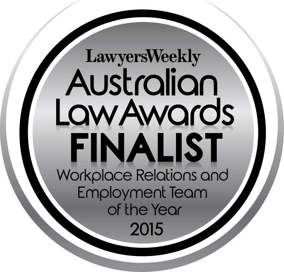 Australian LAw Awards Finalist - Workplace Relations and Employment Team of the Year 2015 logo