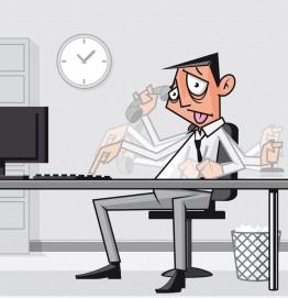 overworked-employee