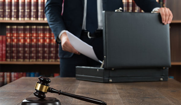 Employment lawyer with a briefcase